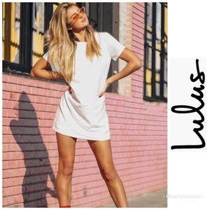 NWT Lulu's Shift & Shout Ivory Shift Dress XL